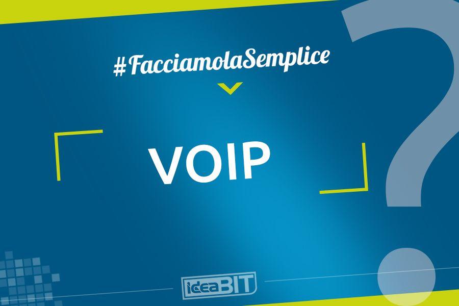 Con VoIP (Voice Over IP, Voce tramite Internet) si intende la tecnologia che rende possibile effettuare conversazioni telefoniche sfruttando la connessione Internet.