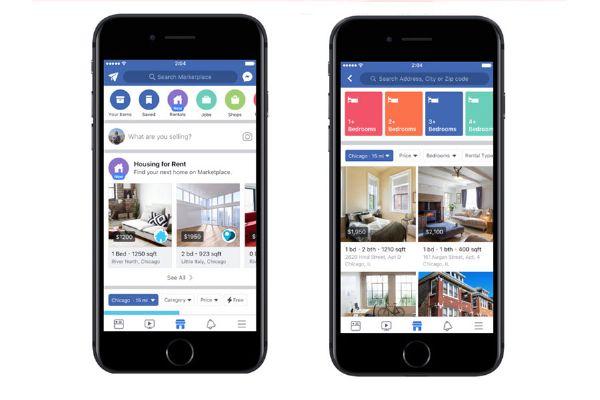 Annunci di case in affitto su Facebook Marketplace