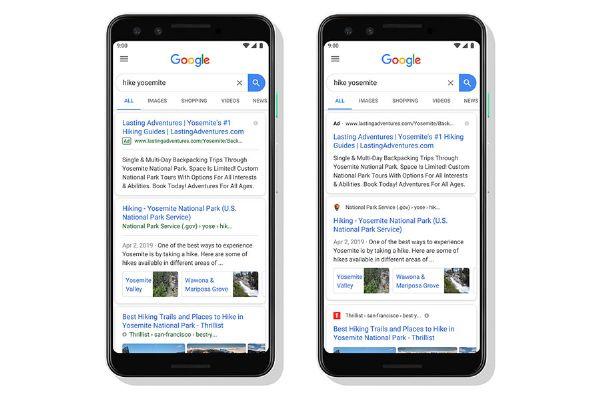 Nuovo look per i risultati di Ricerca Google