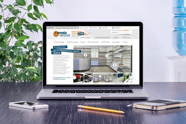sito internet per azienda che commercia arredamento per negozi