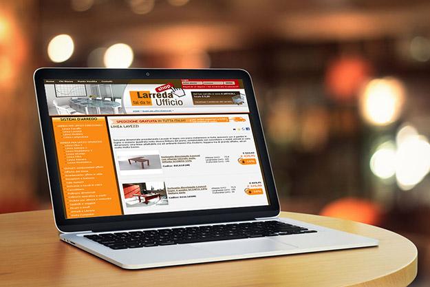 Sito web per azienda che vende online arredamento per uffici
