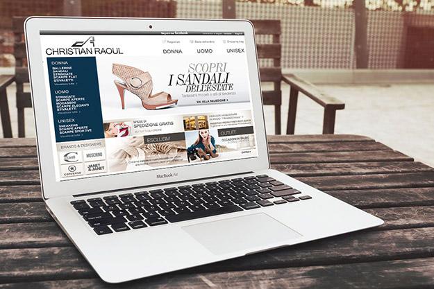 sito web per azienda specializzata nella vendita di calzature