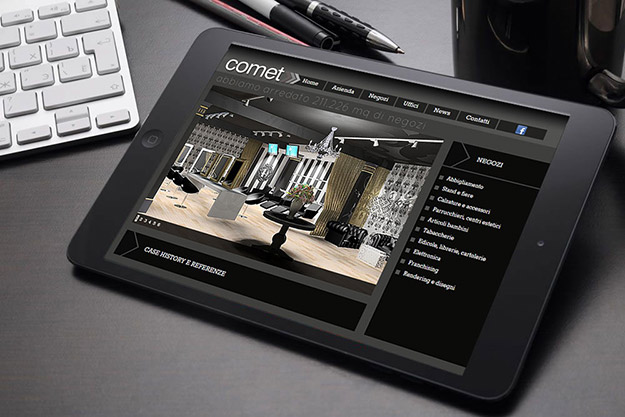 sito internet per azienda di servizi di progettazione d'interni