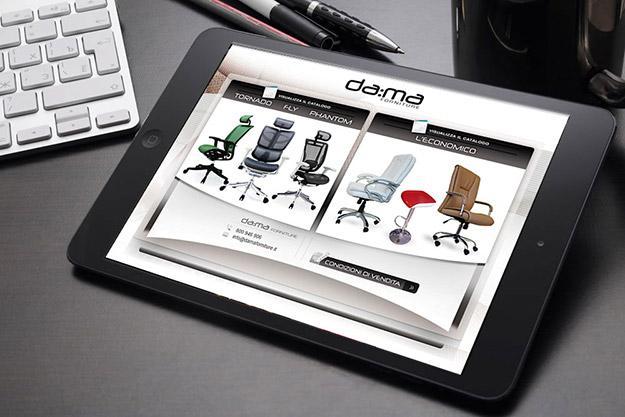 Creazione sito internet per DAMA forniture