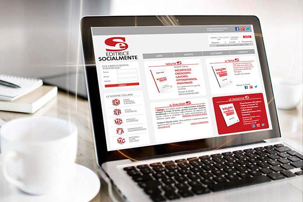 Creazione sito internet per Editrice Socialmente di Bologna