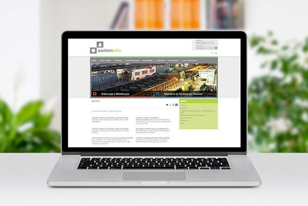 Creazione del sito internet per Sichim Alfa