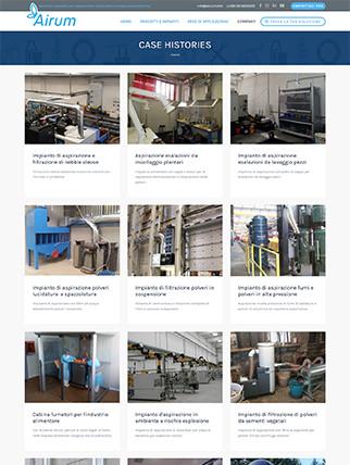Sito web per catalogo aspiratori industriali
