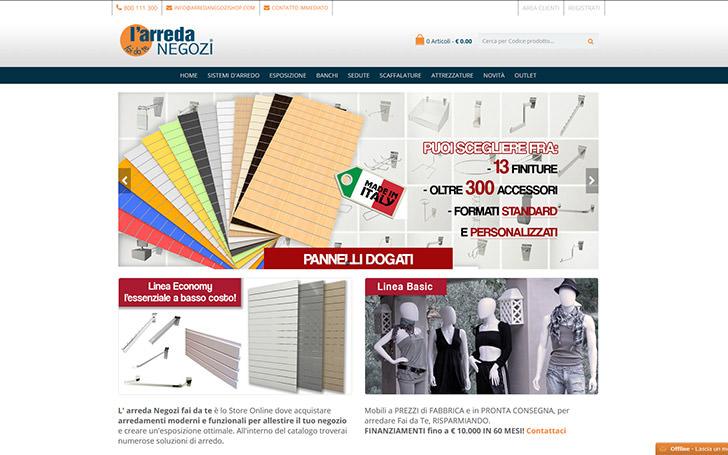 Sito web per azienda che commercializza arredamento per negozi
