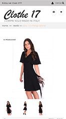 Sito web ecommerce per vendita online di abbiglimento made in italy