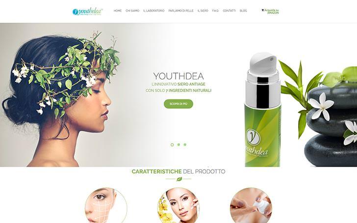 Sito internet per la vendita online di un prodotto per la cura del corpo