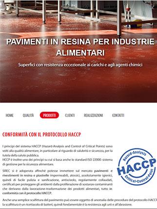 Sito web per azienda di pavimenti industriali