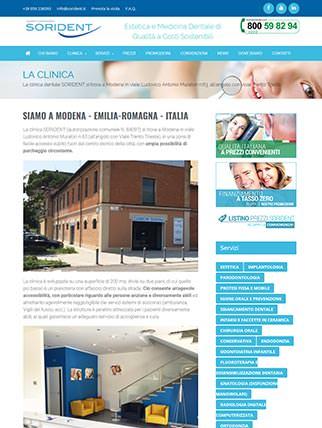 Sito internet per clinica dentale