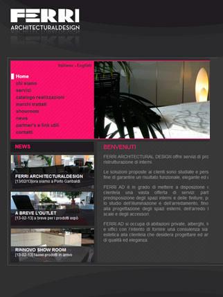 Sito internet per architetto specializzato in interior design
