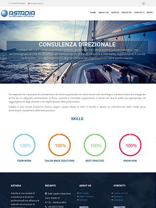Sito internet di azienda specializzata consulenza SAP e direzionale