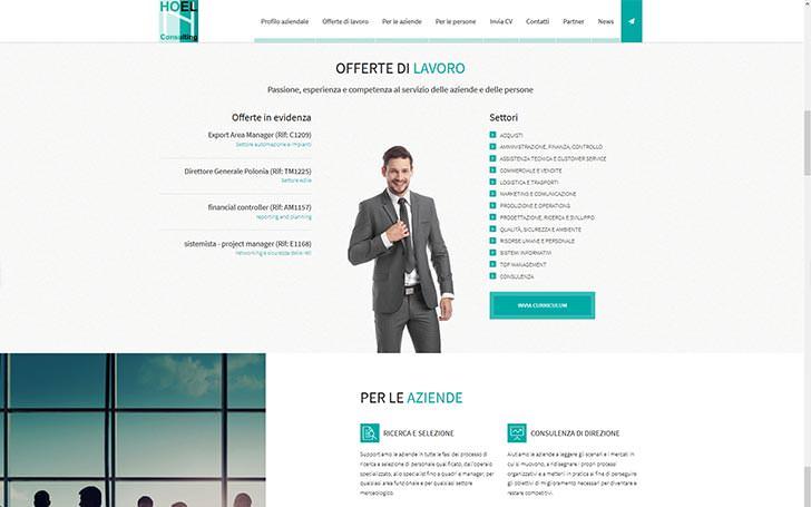 Sito web per azienda che fornisce servizi di ricerca del personale