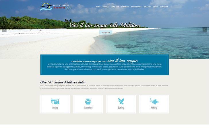 Sito internet per azienda che organizza crociere alle Maldive